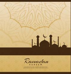 Creative ramadan kareem festival greeting vector