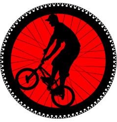 Cycling badge vector