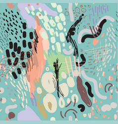 digital brush strokes seamless pattern vector image vector image