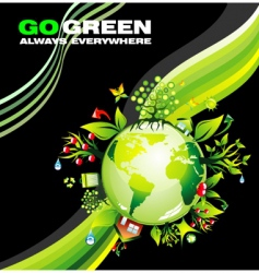 eco world vector image