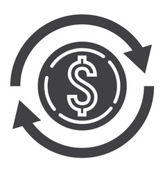 Exchange glyph icon business and finance dollar vector