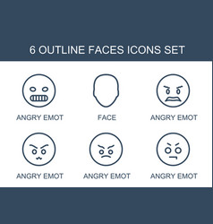 Faces icons vector