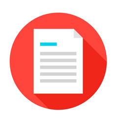 File document flat circle icon vector