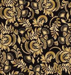 Floral seamless pattern decorative style hohloma vector