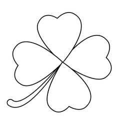 four leaf clover design isolated on white vector image