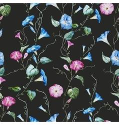 Gentle watercolor floral pattern vector