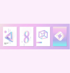 Geometric figures with penrose triangle effect vector