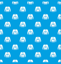 Hockey jersey pattern seamless blue vector