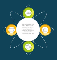 Infographic template circle and business icon vector