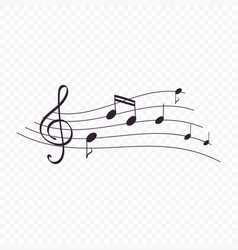 Isolated music notes musical design element vector