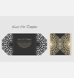 laser cut gate door fold card wedding invitation vector image