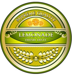 Lemonade gold label vector
