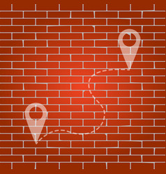 Location pin navigation map gps sign vector
