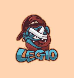 logo boy cartoon cute style vector image