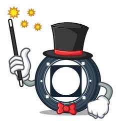 Magician byteball bytes coin mascot cartoon vector