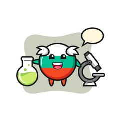 Mascot character bulgaria flag badge as a vector