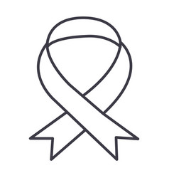 medical ribbon line icon sign vector image