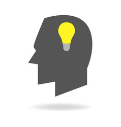 Mind icon of creative thinking vector