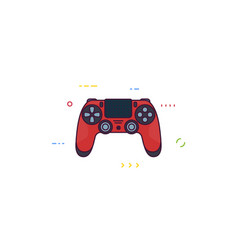 modern gamepad with touchpad vector image