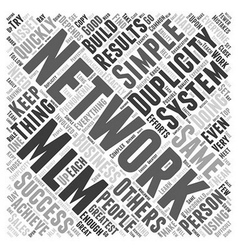 Networking MLM Word Cloud Concept vector