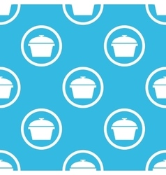 Pan sign blue pattern vector image