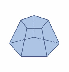 Pentagonal pyramid trunk vector