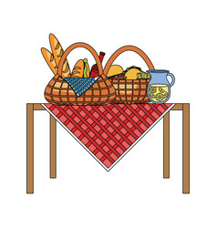 Picnic baskets icon vector