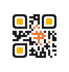 Qr code isolated design sample Modern vector image