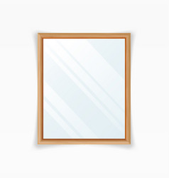 Realistic mirrors decoration mirror with vector