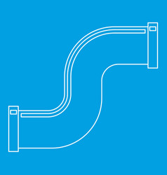 S joint pipe icon outline style vector
