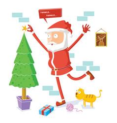 santa claus celebrates christmas vector image