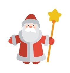 Santa Claus with Stick Isolated Father Frost vector