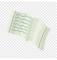 School notebook icon cartoon style vector