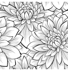 Flower background black and white pattern vector images over seamless background with black and white flowers vector mightylinksfo