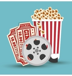 set cinema movie icon design vector image