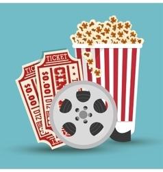 Set cinema movie icon design vector