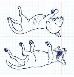 Sketchy dogs vector