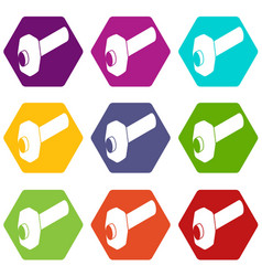 sledgehammer icons set 9 vector image