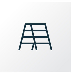 stair outline symbol premium quality isolated vector image