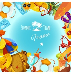 Summer Holidays Frame vector image