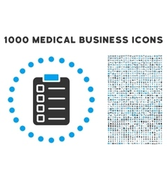 Test Task Icon with 1000 Medical Business vector image