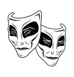 theatrical masks 0002 vector image