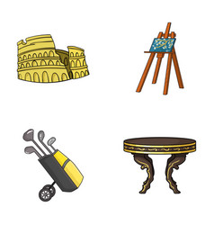 travel sport and other web icon in cartoon style vector image
