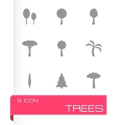 trees icon set vector image