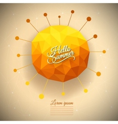 triangle summer sun vector image
