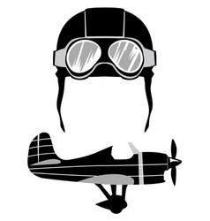 vintage aviation motives vector image