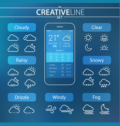 Weather ui icons vector