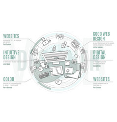 Web design - promotional with text vector