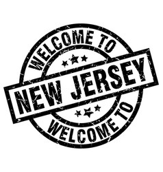 Welcome to new jersey black stamp vector