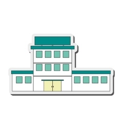 white building icon vector image